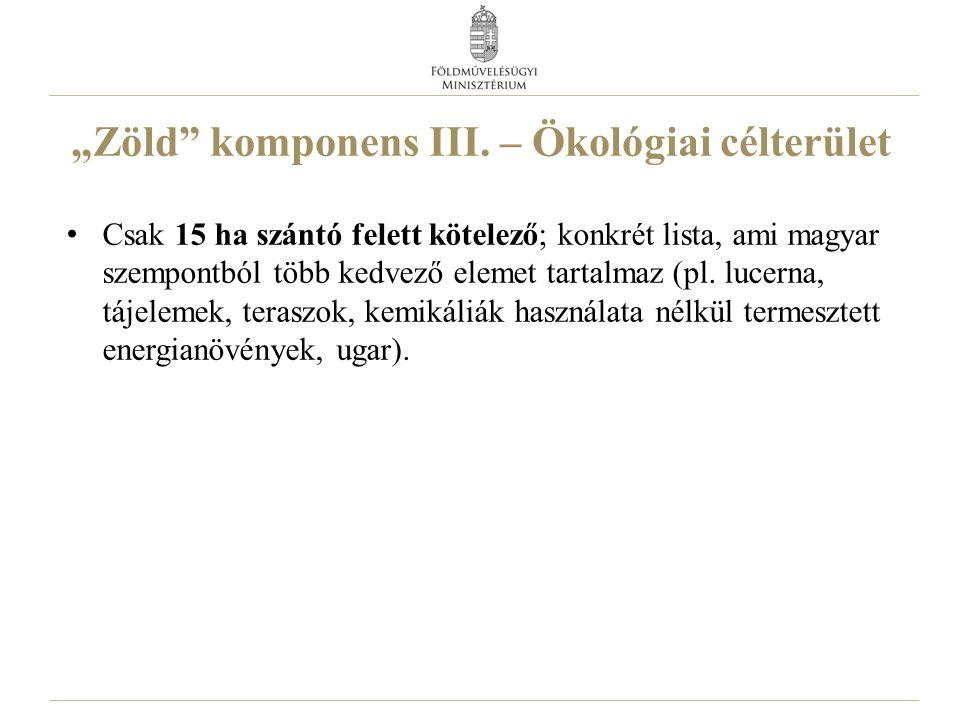 """""""Zöld komponens III."""