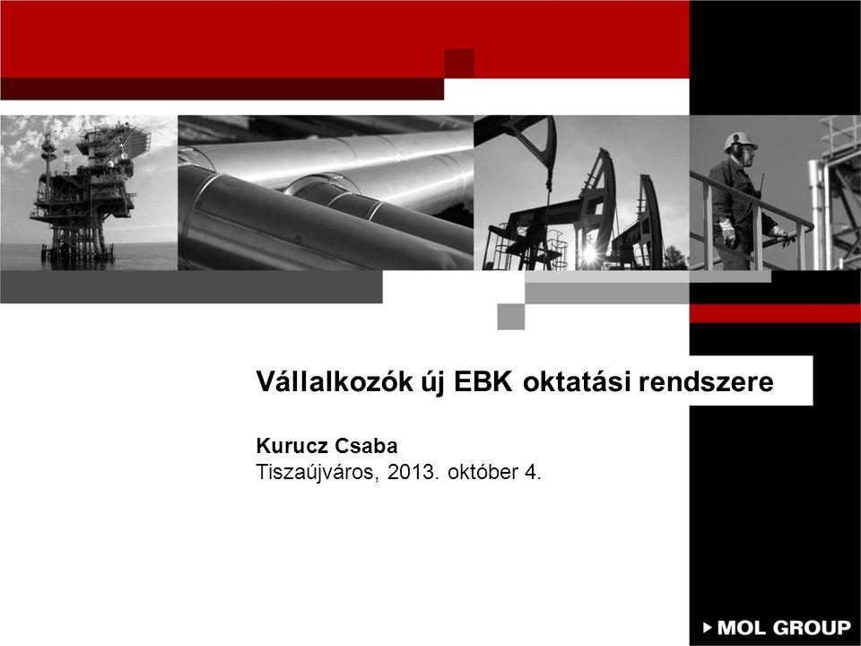 Vállalkozók új EBK oktatási rendszere Kurucz Csaba Tiszaújváros, 2013. október 4.