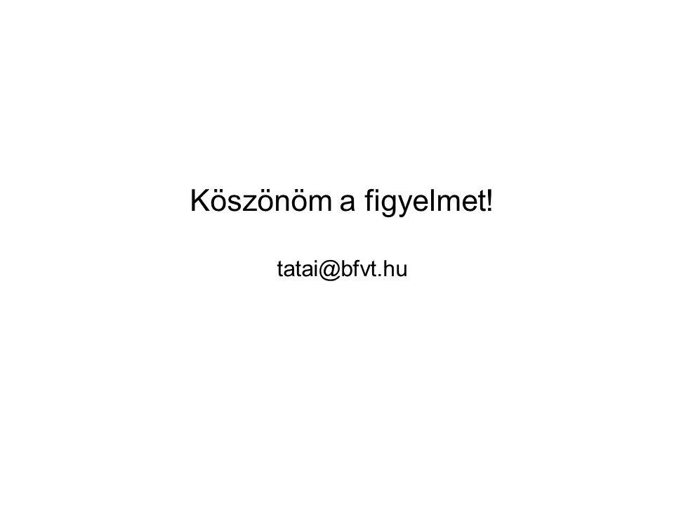 Köszönöm a figyelmet! tatai@bfvt.hu