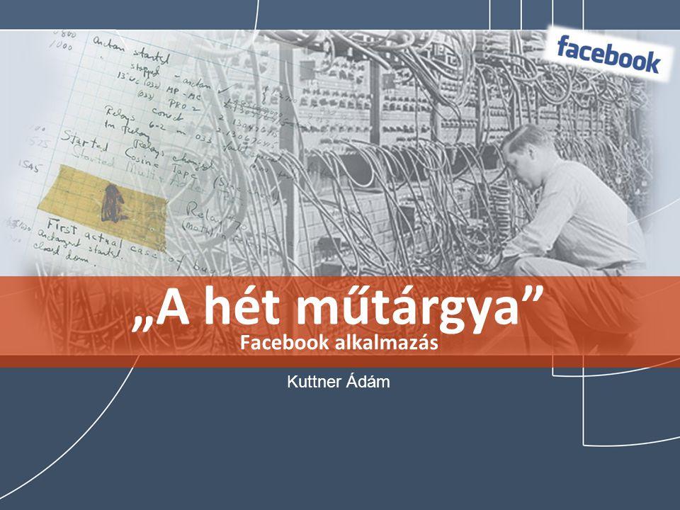 """""""A hét műtárgya"""" Facebook alkalmazás Kuttner Ádám"""