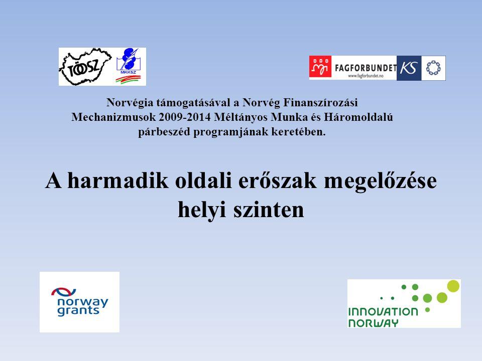 A harmadik oldali erőszak megelőzése helyi szinten Norvégia támogatásával a Norvég Finanszírozási Mechanizmusok 2009-2014 Méltányos Munka és Háromolda