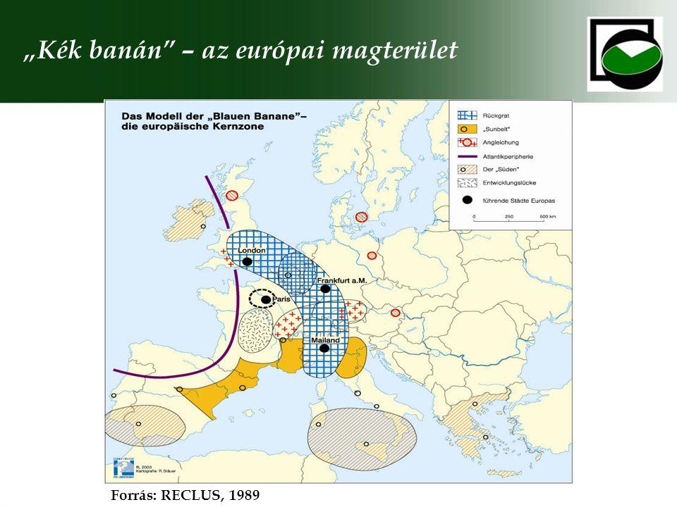 A területi modell keleti bővítése – Európai Gazdasági Tér Forrás: WERNER, 2000