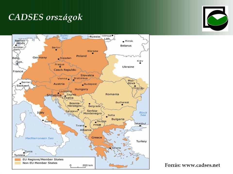 CADSES országok Forrás: www.cadses.net