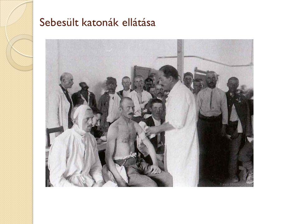 Sebesült katonák ellátása