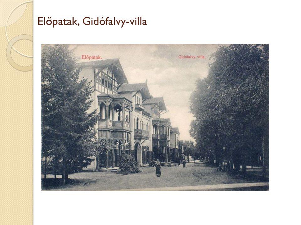 Előpatak, Gidófalvy-villa