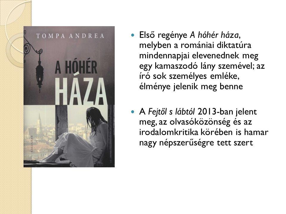 Első regénye A hóhér háza, melyben a romániai diktatúra mindennapjai elevenednek meg egy kamaszodó lány szemével; az író sok személyes emléke, élménye