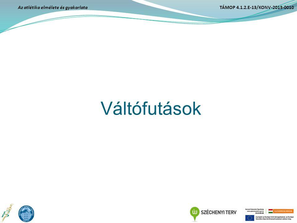 Váltófutások Az atlétika elmélete és gyakorlata TÁMOP 4.1.2.E-13/KONV-2013-0010