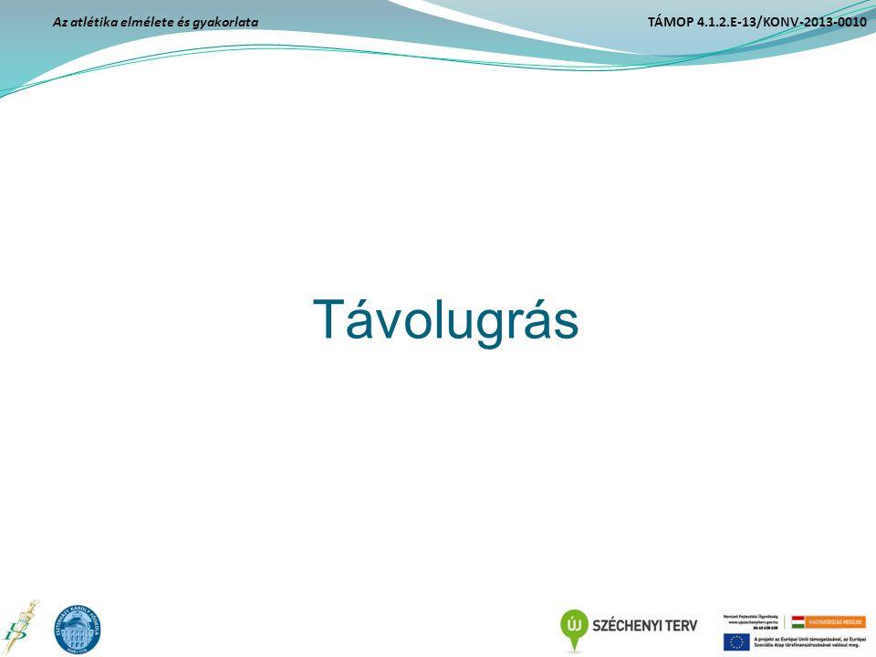 Távolugrás Az atlétika elmélete és gyakorlata TÁMOP 4.1.2.E-13/KONV-2013-0010