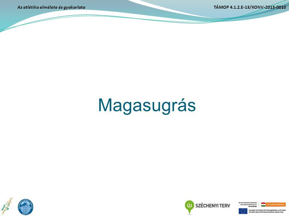 Magasugrás Az atlétika elmélete és gyakorlata TÁMOP 4.1.2.E-13/KONV-2013-0010