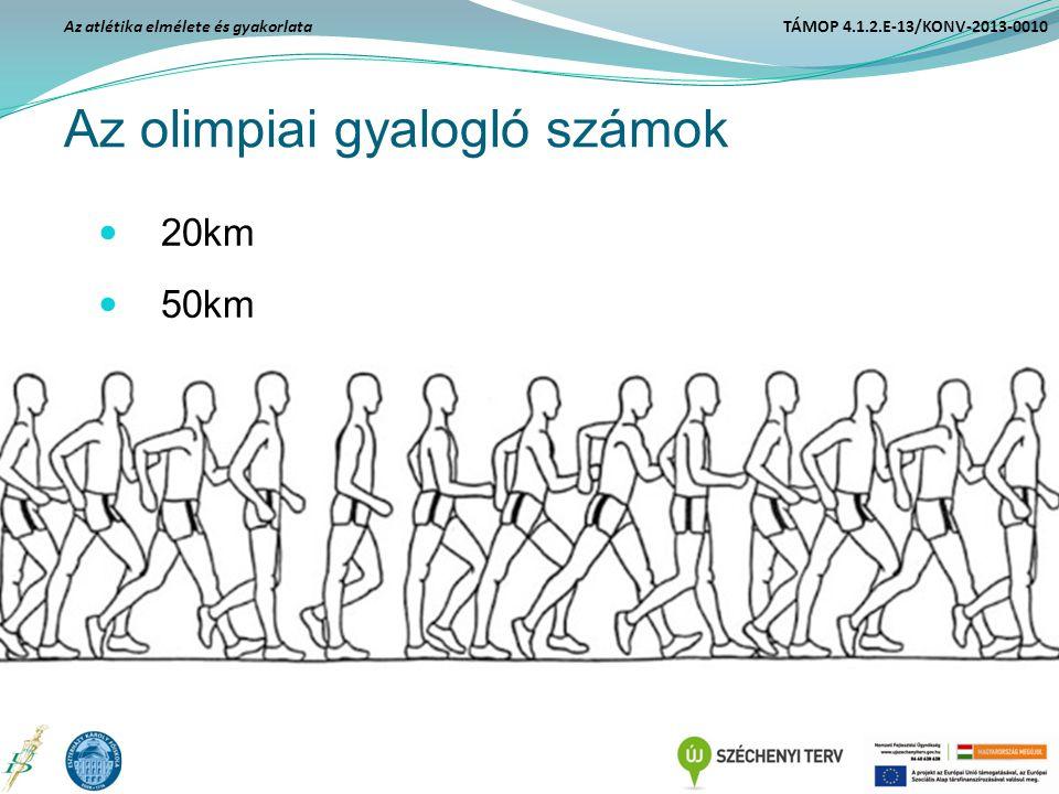 Az olimpiai gyalogló számok 20km 50km Az atlétika elmélete és gyakorlata TÁMOP 4.1.2.E-13/KONV-2013-0010