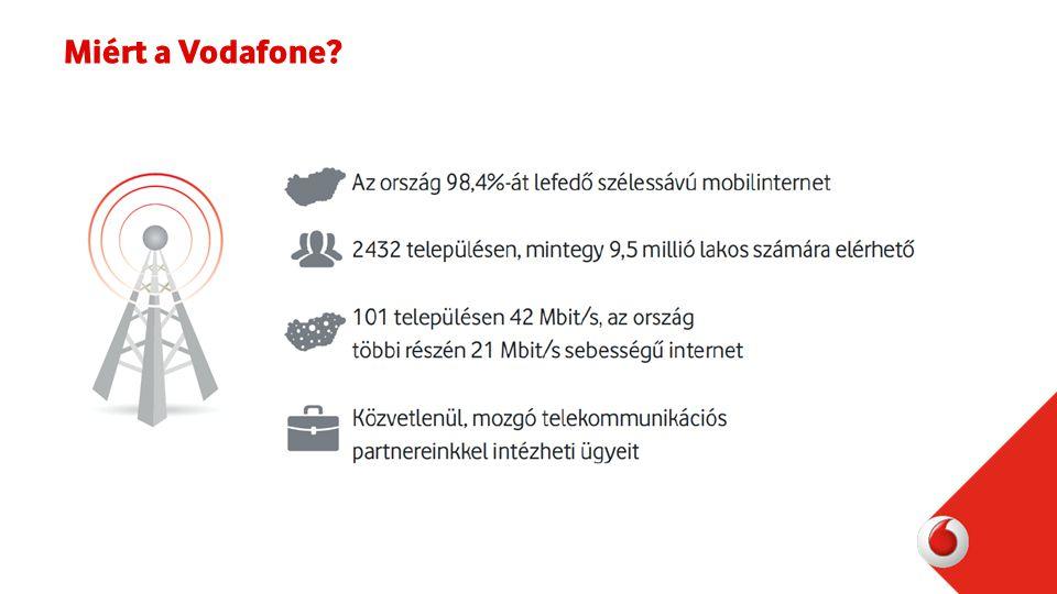 Ingyenes cégen belüli beszélgetések – mobil és asztali telefonok közt Nincs vesztett hívás vezetékes számon Rugalmas és könnyen mozgatható: nincs szükség vezetékes hálózatra Egyetlen számla a mobil- és a vezetékes előfizetésnek Egy szolgáltató: könnyebb kapcsolattartás és ügyintézés Vezetékes szolgáltatás a Vodafone-tól?