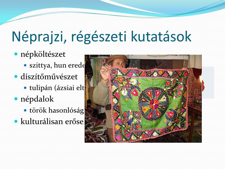 Embertani kutatások nagy probléma a történelmi múlt, a népesség keveredése három csoport honfoglalás előtt a Kárpát-medencében éltek honfoglaló magyarok később betelepülők régészeti hagyaték honfoglalás korából turáni típus (kb.