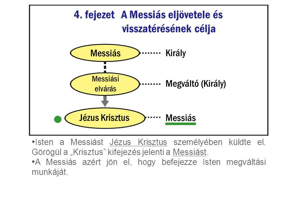 """Isten a Messiást Jézus Krisztus személyében küldte el. Görögül a """"Krisztus"""" kifejezés jelenti a Messiást. A Messiás azért jön el, hogy befejezze Isten"""