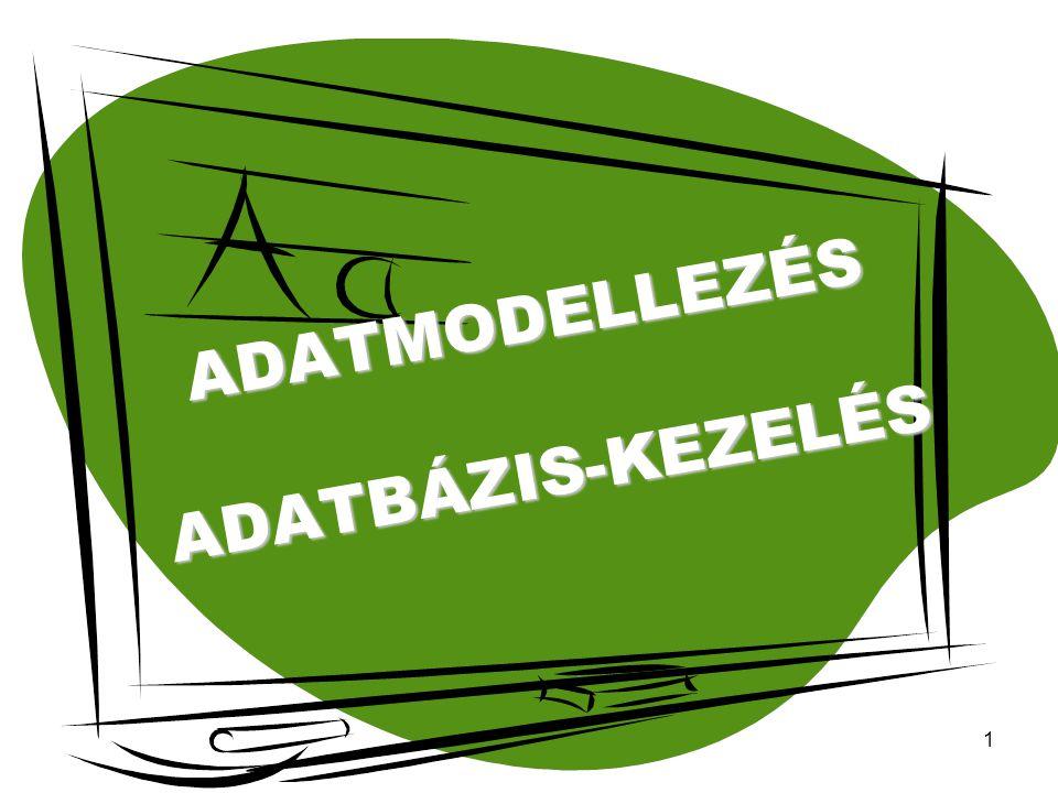 1 ADATMODELLEZÉS ADATBÁZIS-KEZELÉS