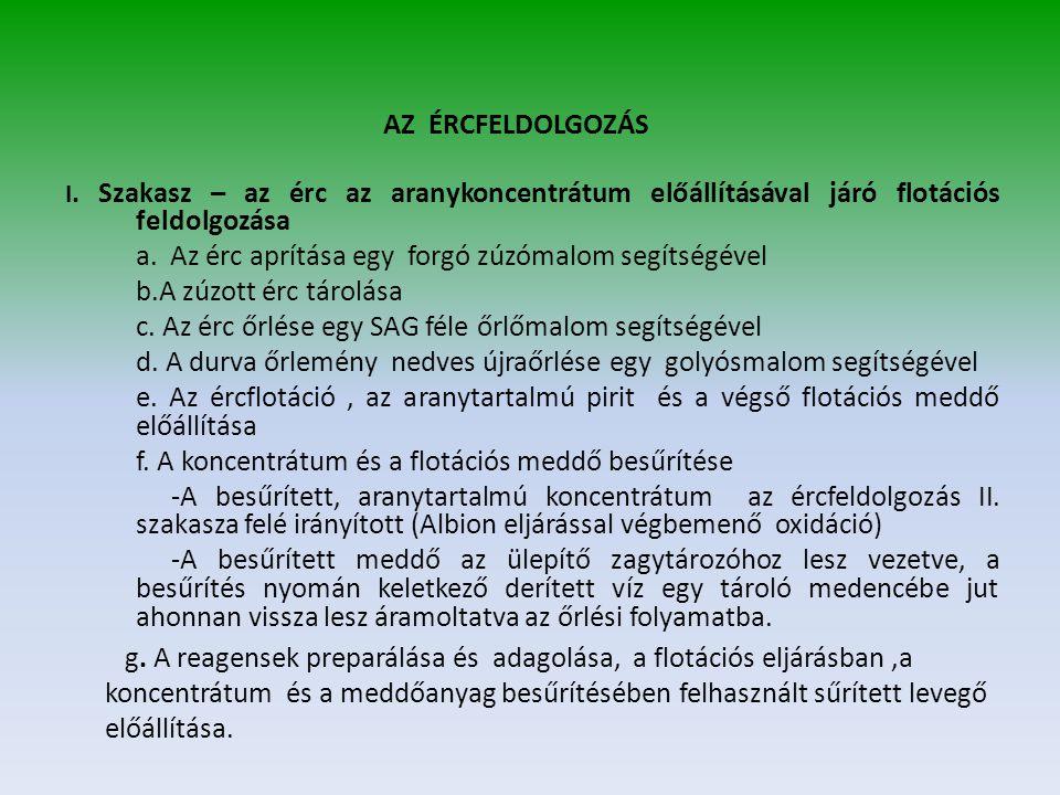 AZ ÉRCFELDOLGOZÁS I.