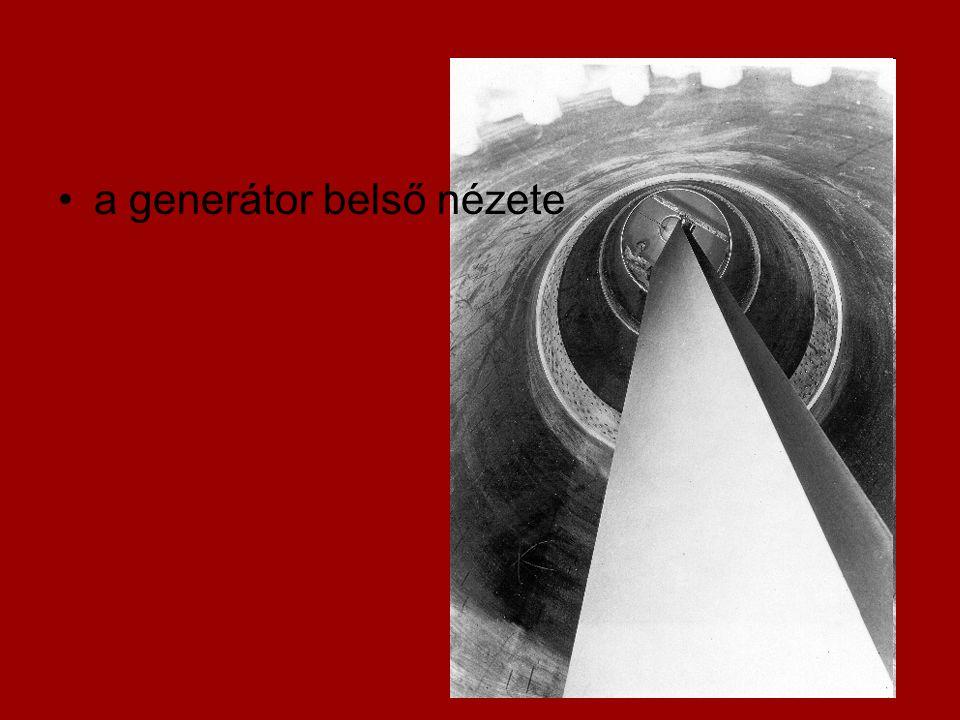 a generátor belső nézete