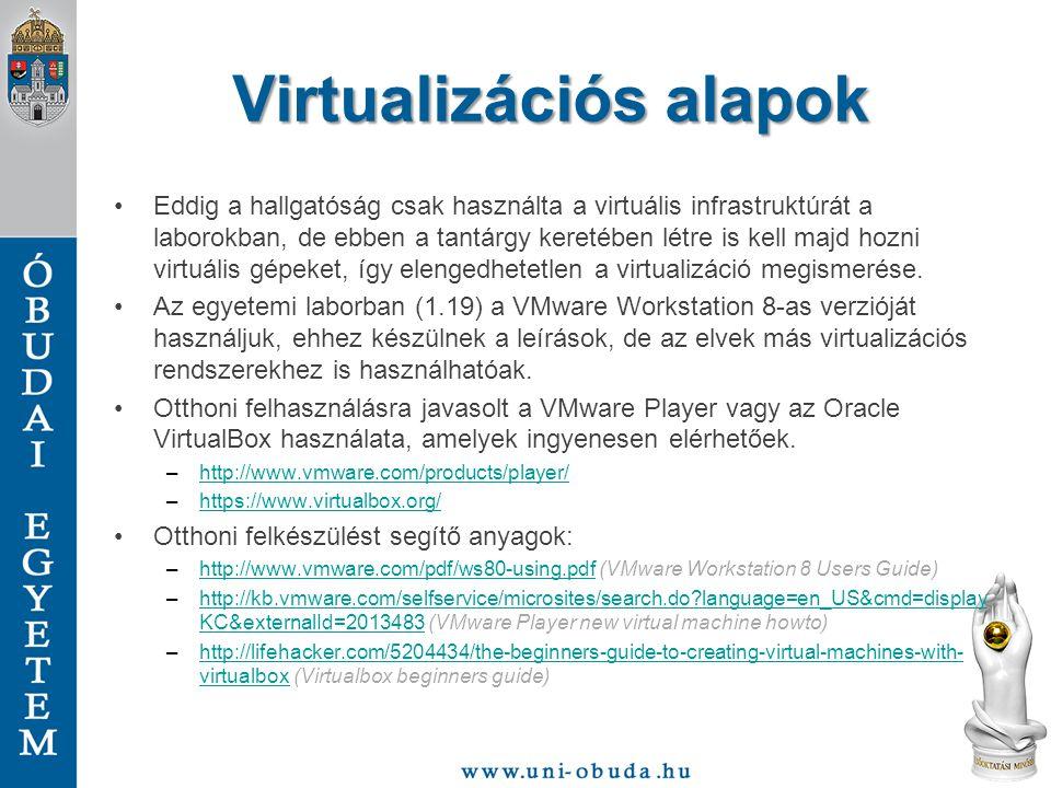 """Virtualizáció fogalma """"A virtualizáció egy keret rendszer vagy módszer, a számítógép erőforrásainak felosztására, egy többszörös megvalósító környezetre, alkalmazva egy vagy több koncepciót vagy technológiát, mint a hw és sw felosztás, az időosztás, a részleges vagy teljes gép szimuláció, emuláció, minőségi szolgáltatás, konszolidáció, és sok más. Vasvári György CISM A Wikipedia szerint a virtualizáció egy tág szakkifejezés, amely valójában a számítógépes erőforrások absztrakciója."""