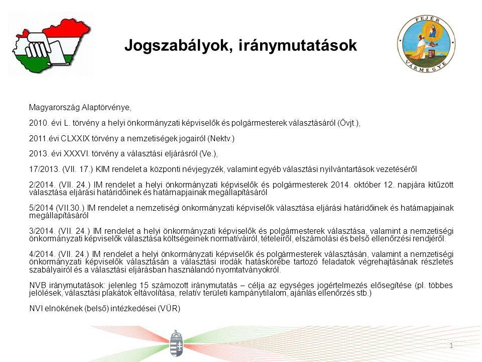 Jogszabályok, iránymutatások Magyarország Alaptörvénye, 2010.