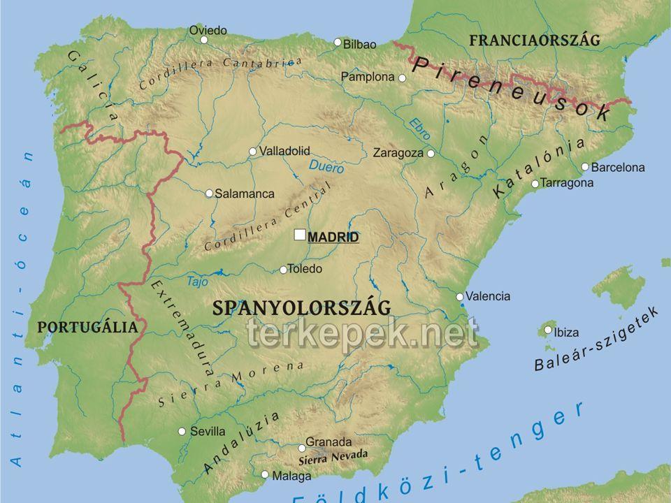 FELSZÍN: Spanyolroszág felszíne nagyon változatos, a dombos vidékektől kezdve, félsivatagokon, sivatagokon és sziklás helyeken át a vulkanikus területekig, arany homokkal fedett tengerpartokig.