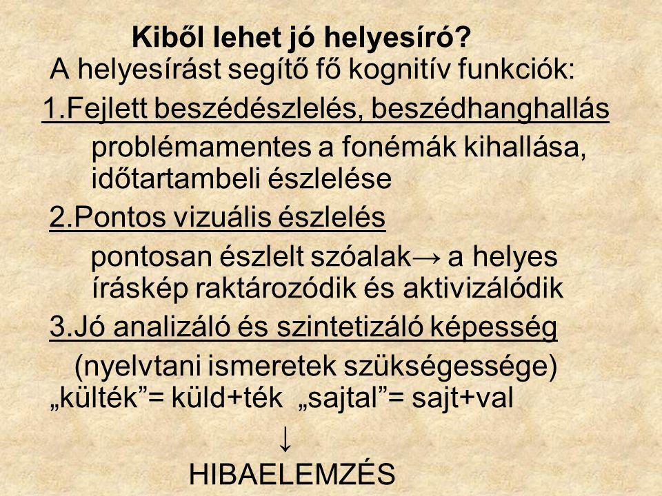 A magyar nyelv fonematikus = a legtöbb szavunk helyesírása a KIEJTÉSEN nyugszik.