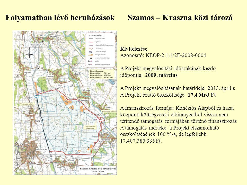Kivitelezése Azonosító: KEOP-2.1.1/2F-2008-0004 A Projekt megvalósítási időszakának kezdő időpontja: 2009. március A Projekt megvalósításának határide
