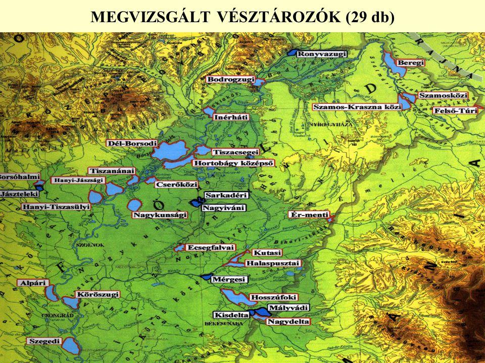 MEGVIZSGÁLT VÉSZTÁROZÓK (29 db)