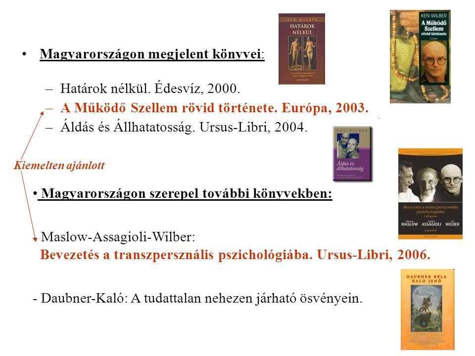 Magyarországon megjelent könyvei: –Határok nélkül.