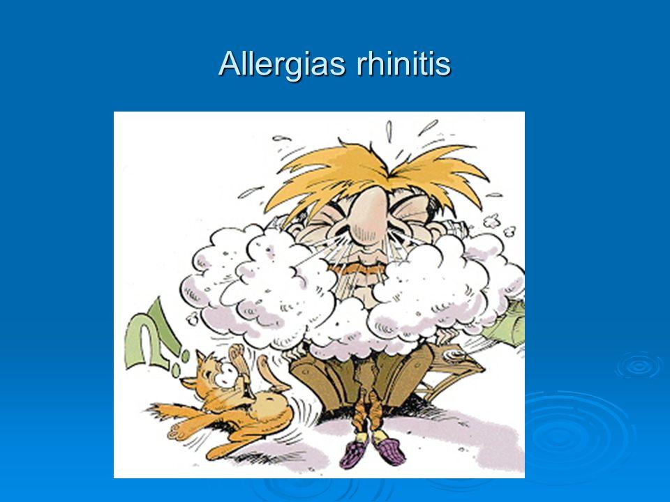 Allergias rhinitis