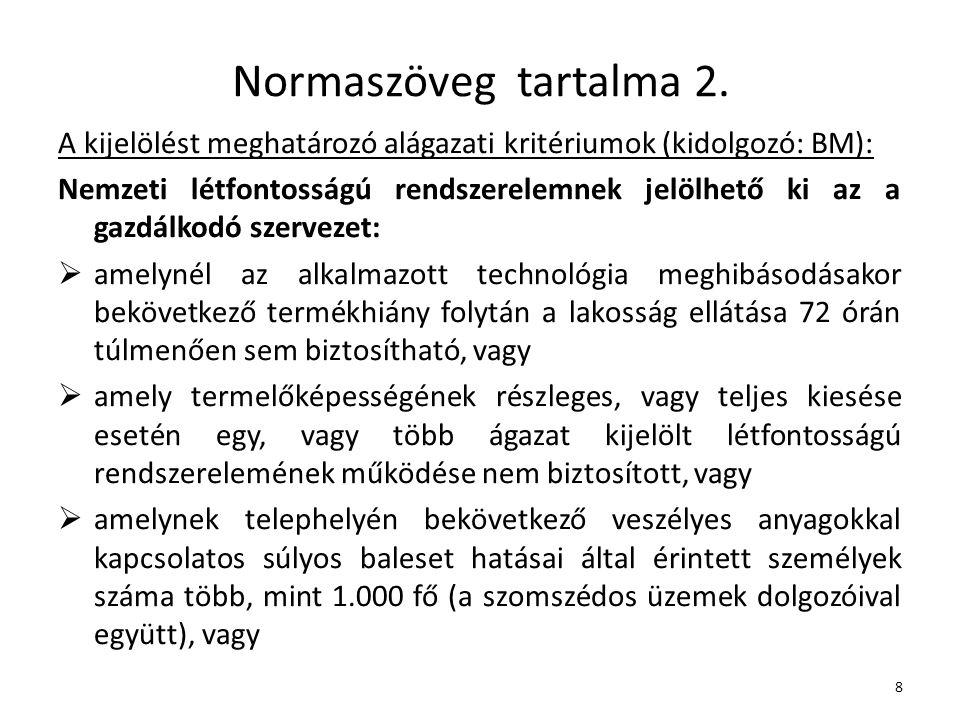 Normaszöveg tartalma 2.