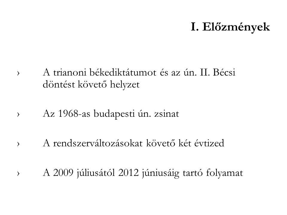 I. Előzmények ›A trianoni békediktátumot és az ún. II. Bécsi döntést követő helyzet ›Az 1968-as budapesti ún. zsinat ›A rendszerváltozásokat követő ké