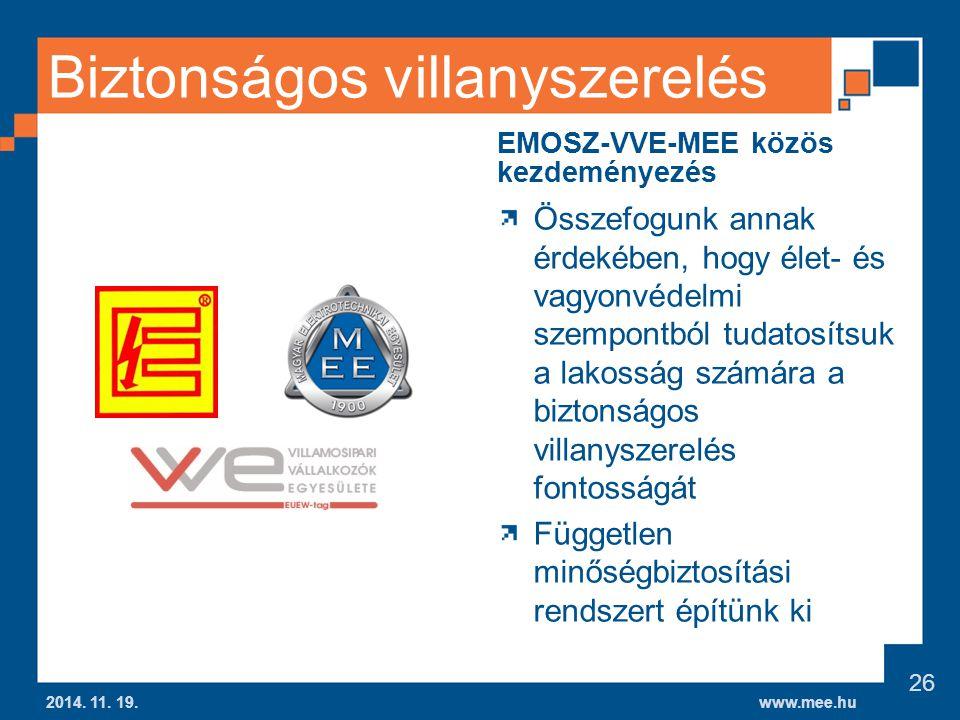 www.mee.hu Biztonságos villanyszerelés 2014.11. 19.