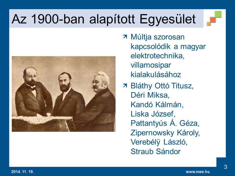 www.mee.hu Energetikai Informatika Szakosztály 2014.
