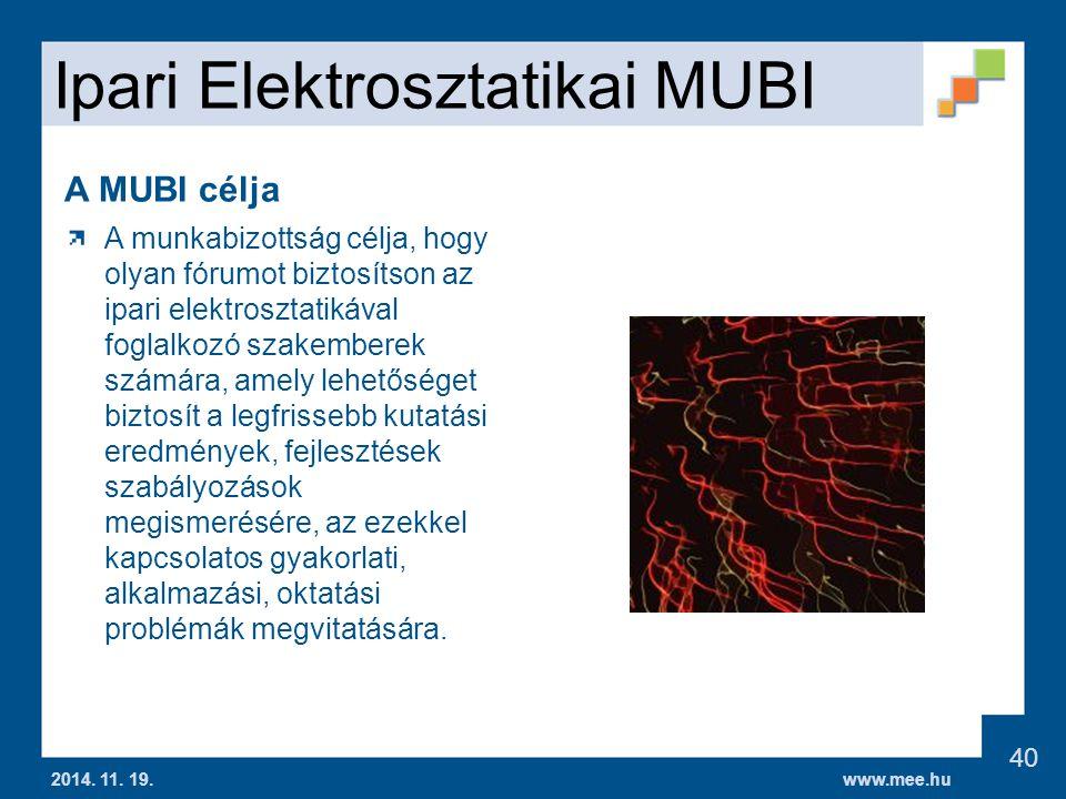 www.mee.hu Ipari Elektrosztatikai MUBI 2014.11. 19.