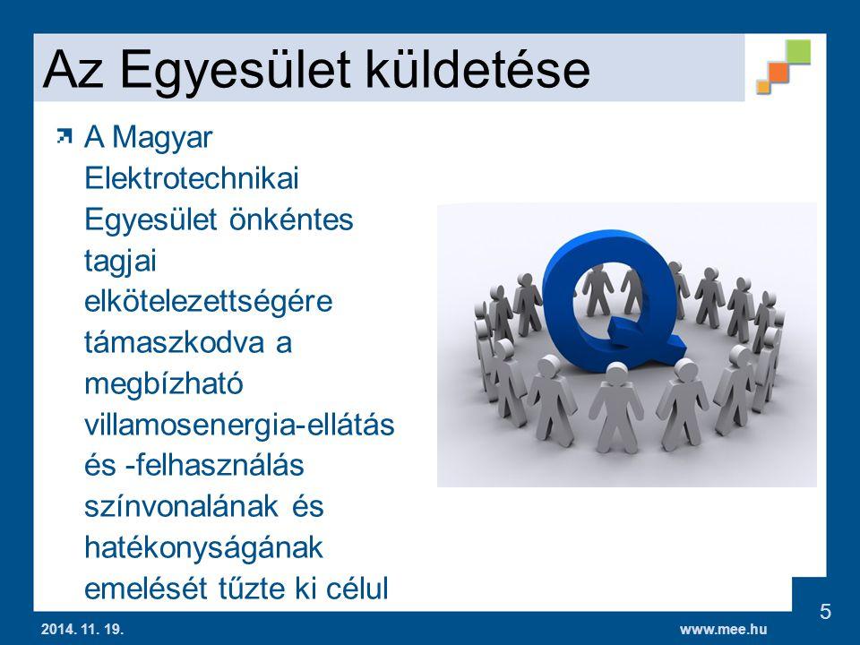 www.mee.hu Az Egyesület küldetése 2014.11. 19.
