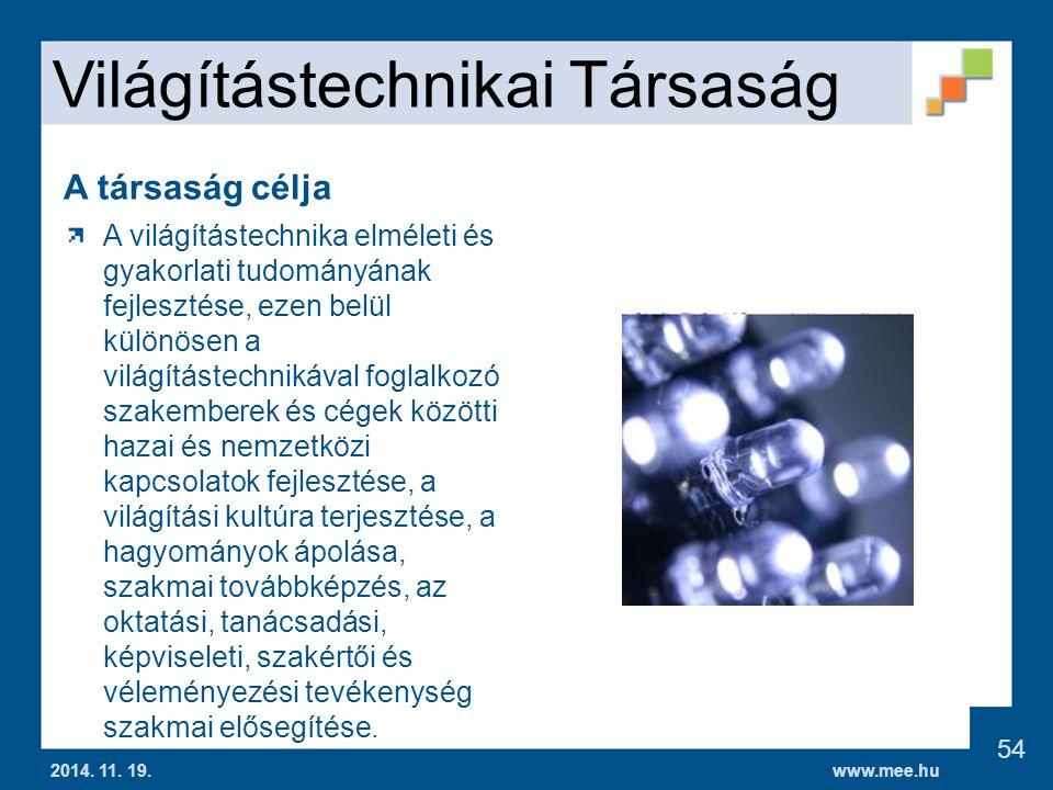 www.mee.hu Világítástechnikai Társaság 2014.11. 19.