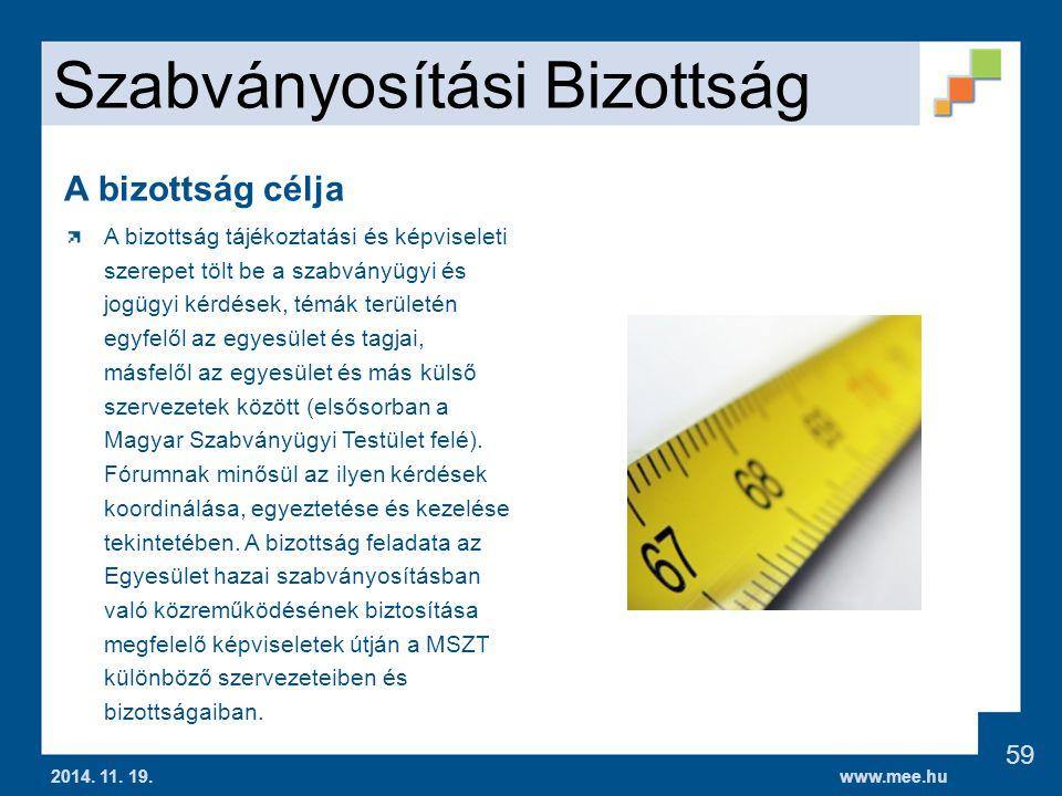 www.mee.hu Szabványosítási Bizottság 2014.11. 19.