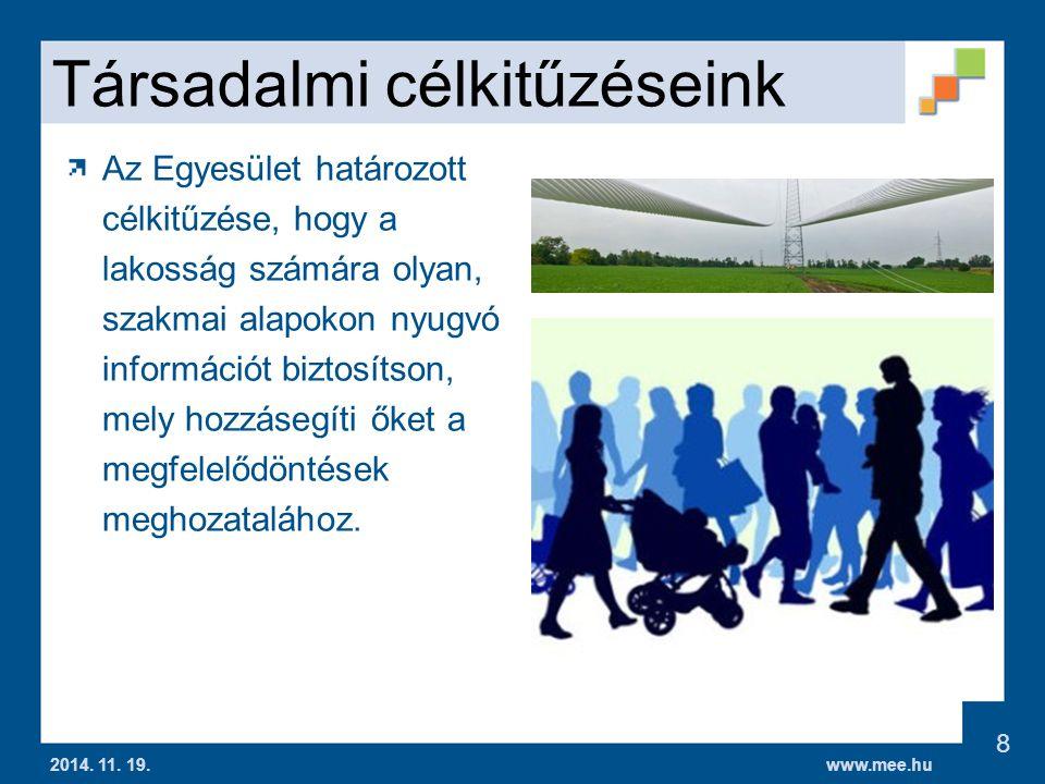 www.mee.hu Társadalmi célkitűzéseink 2014.11. 19.