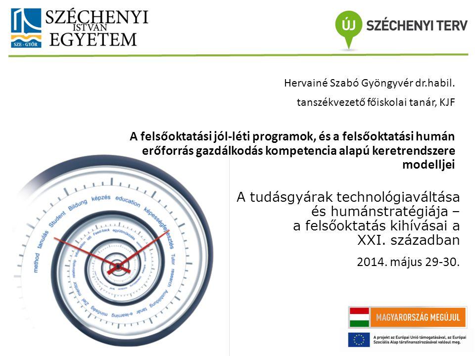1212 Előadó neve A tudásgyárak technológiaváltása és humánstratégiája – a felsőoktatás kihívásai a XXI.