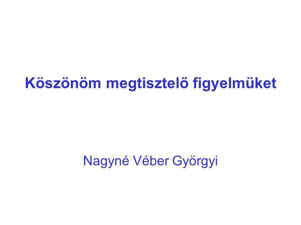 Köszönöm megtisztelő figyelmüket Nagyné Véber Györgyi