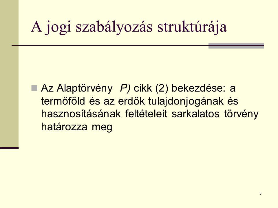 6 A jogi szabályozás struktúrája 2013.évi CXXII.