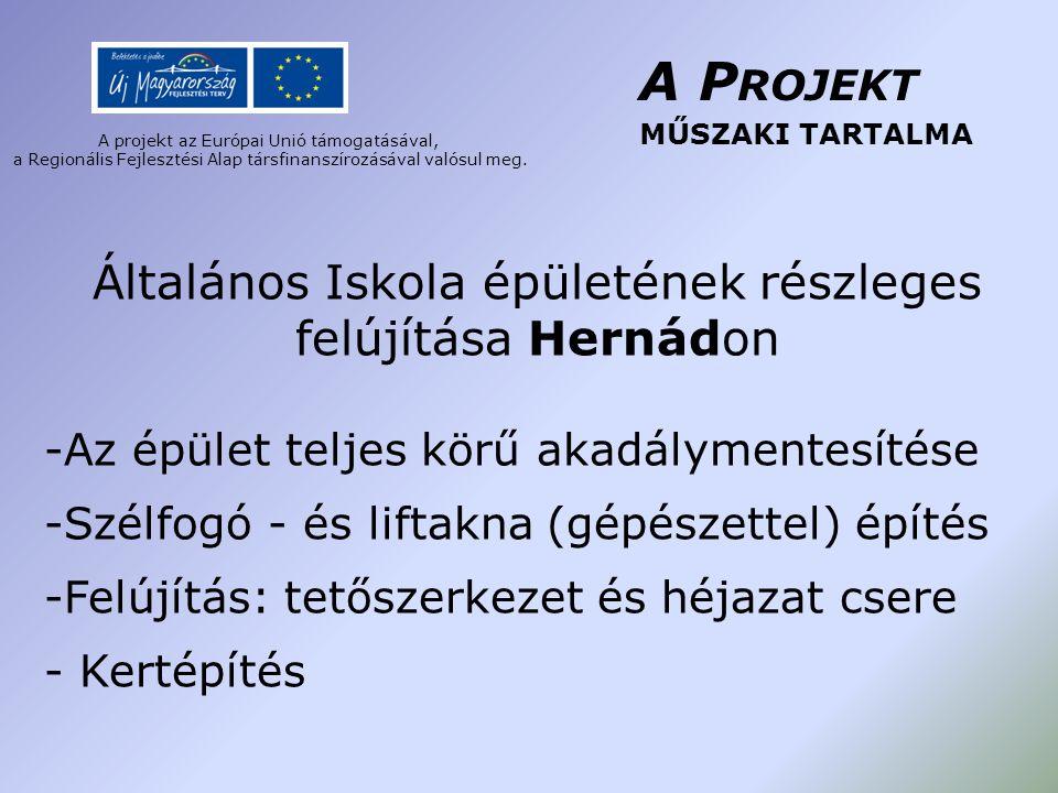 A projekt az Európai Unió támogatásával, a Regionális Fejlesztési Alap társfinanszírozásával valósul meg.