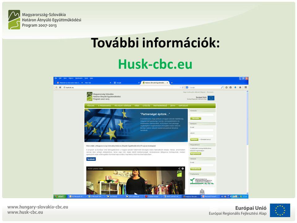 További információk: Husk-cbc.eu