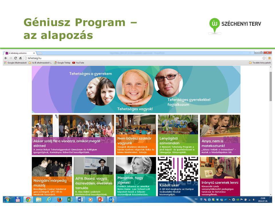 11 Géniusz Program – az alapozás