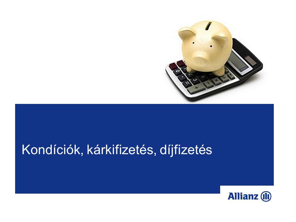 Kondíciós lista, kárkifizetési tudnivalók 6 A kondíciós listák felépítése a forintos termékhez hasonló - természetesen a díjakat, költségeket, biztosítási összegeket euróra konvertáltuk.
