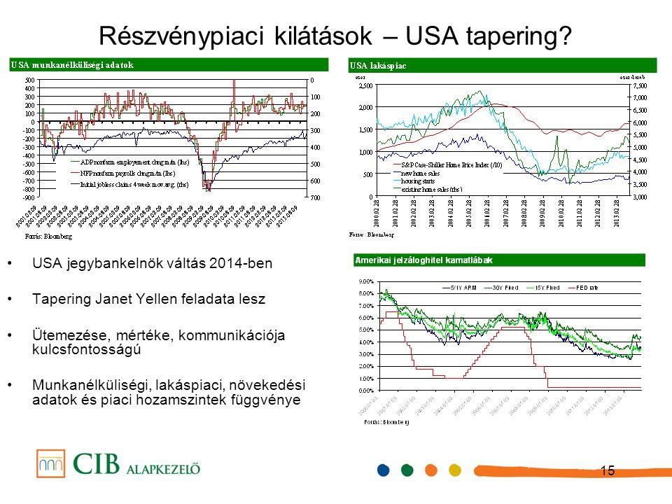 15 Részvénypiaci kilátások – USA tapering.
