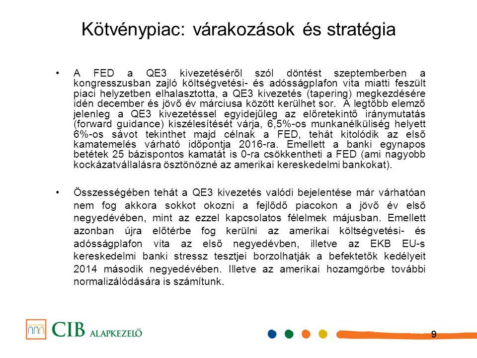 10 Előrejelzéseink Előrejelzések (CIB Alapkezelő)201220132014 RMAX8.50%5.65%3.10% MAX21.90%8.80%5.90% Infláció.