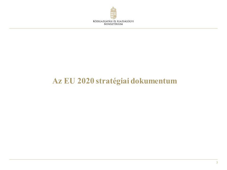3 Az EU 2020 stratégiai dokumentum