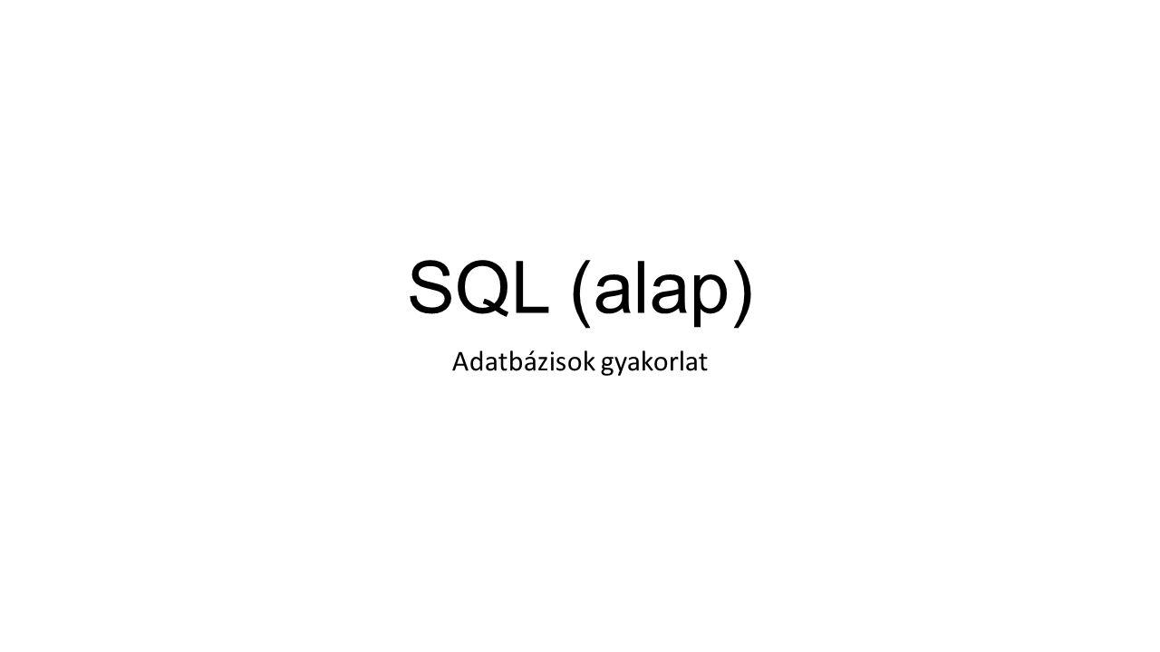 SQL (alap) Adatbázisok gyakorlat