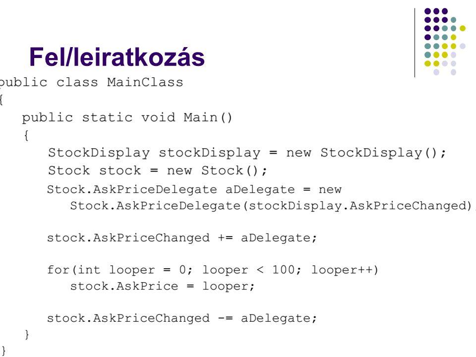 Fel/leiratkozás Dr. Johanyák Zs. Csaba - Szoftvertechnológia - 2014 33