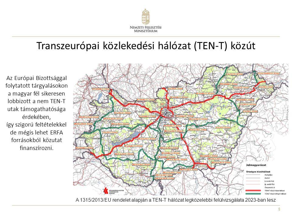 """9 Európai Hálózatfinanszírozási Eszköz Keret összege (alap): 373milliárd Ft """"nemzeti boríték (CEF) I.Csak az 1316/2013/EU rendeletben felsorolt TEN-T törzshálózati szakaszok és egyes horizontális beavatkozások támogathatók belőle II.A Kohéziós Alaphoz hasonló szabályok, de az operatív programmal ellentétben: 1.A Közlekedési és Mobilitási (DG MOVE), és nem a Regionális és Várospolitikai Főigazgatóság (DG REGIO) alá tartozik 2.Időkényszer: a.a """"nemzeti borítékot csak 2016 végéig tartják fenn, majd a le nem kötött forrásokra valamennyi kohéziós ország (pl."""